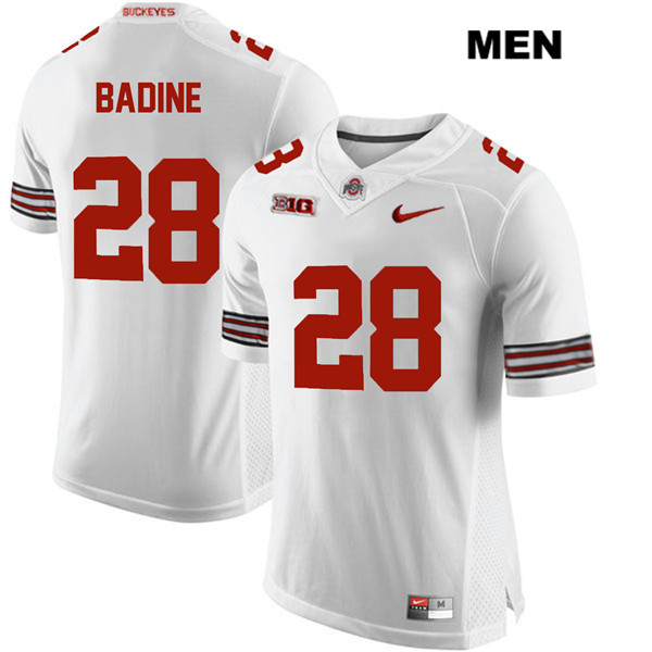 Alex Badine Mens Stitched White Nike Ohio State Buckeyes Authentic no. 28 College Football Jersey - Alex Badine Jersey