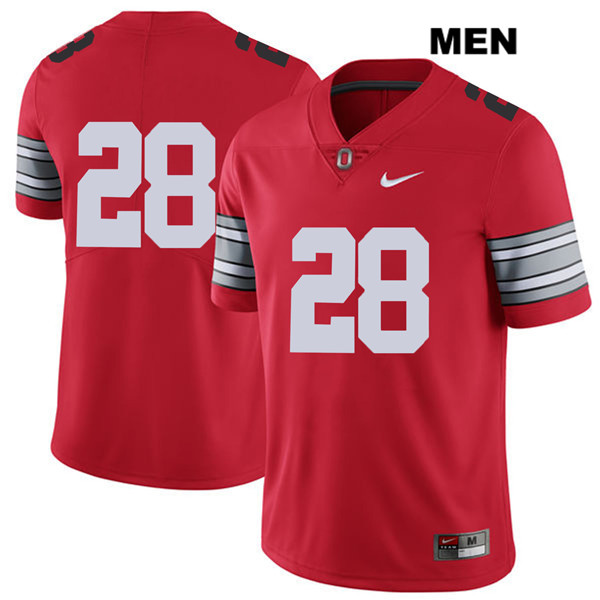 Alex Badine Mens Nike 2018 Spring Game Red Ohio State Buckeyes Stitched Authentic no. 28 College Football Jersey - Without Name - Alex Badine Jersey