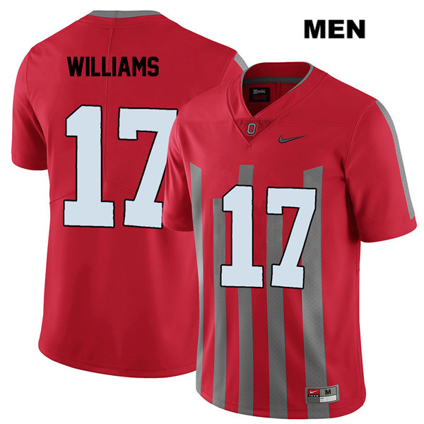 Alex Williams Mens Red Nike Ohio State Buckeyes Elite Stitched Authentic no. 17 College Football Jersey