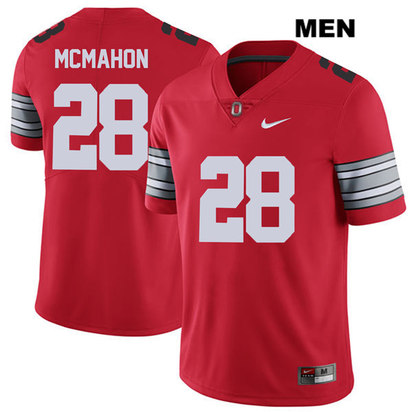 Amari McMahon Mens Red Stitched Nike Ohio State Buckeyes Authentic 2018 Spring Game no. 28 College Football Jersey - Amari McMahon Jersey