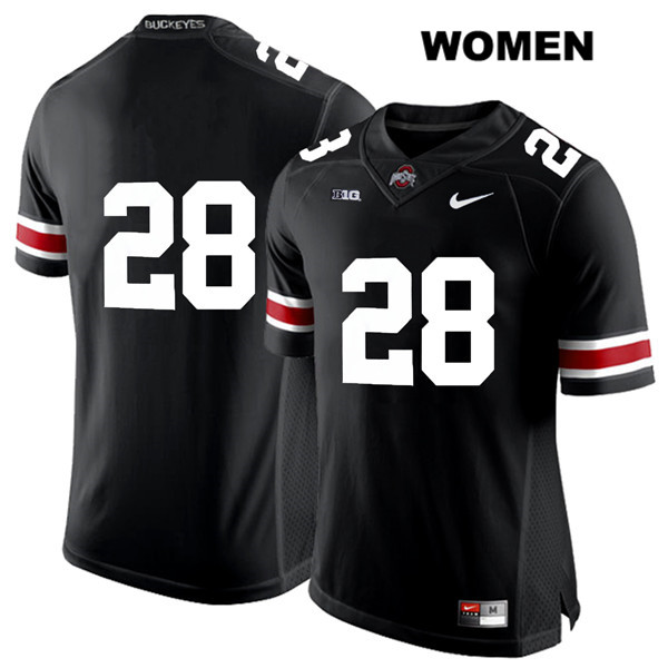 Amari McMahon Nike Womens Stitched Black Ohio State Buckeyes Authentic White Font no. 28 College Football Jersey - Without Name - Amari McMahon Jersey