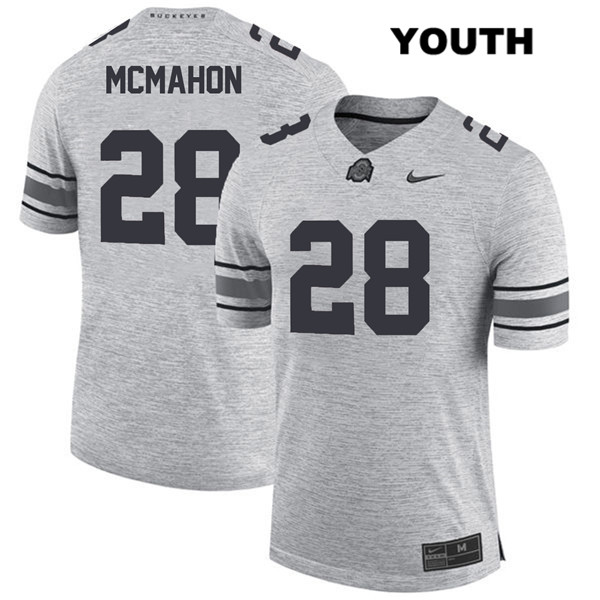 Amari McMahon Youth Nike Gray Ohio State Buckeyes Stitched Authentic no. 28 College Football Jersey - Amari McMahon Jersey