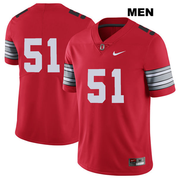 Antwuan Jackson Mens Red Nike Ohio State Buckeyes Authentic Stitched 2018 Spring Game no. 51 College Football Jersey - Without Name - Antwuan Jackson Jersey