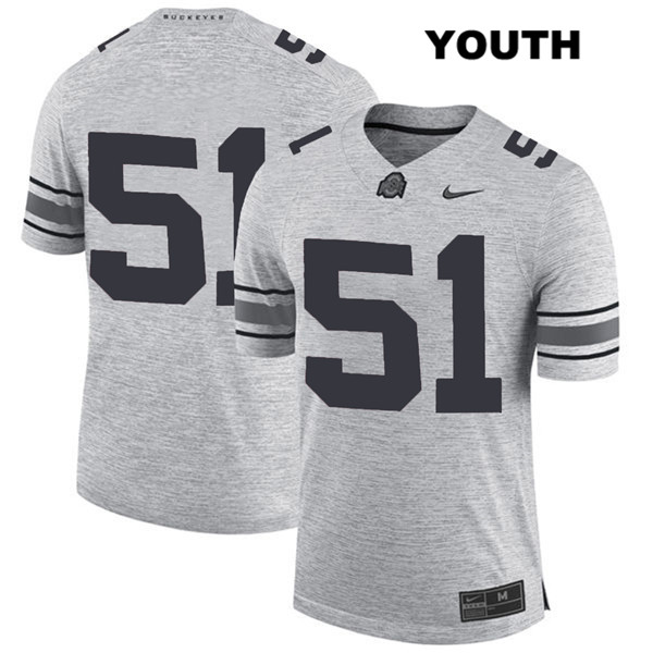 Antwuan Jackson Youth Stitched Gray Ohio State Buckeyes Nike Authentic no. 51 College Football Jersey - Without Name - Antwuan Jackson Jersey