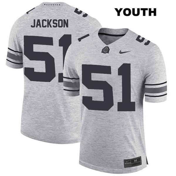 Antwuan Jackson Nike Youth Gray Ohio State Buckeyes Stitched Authentic no. 51 College Football Jersey - Antwuan Jackson Jersey