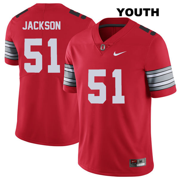 Antwuan Jackson Youth Nike 2018 Spring Game Red Ohio State Buckeyes Stitched Authentic no. 51 College Football Jersey - Antwuan Jackson Jersey