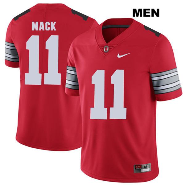 Austin Mack Mens Stitched Red Ohio State Buckeyes Nike Authentic 2018 Spring Game no. 11 College Football Jersey
