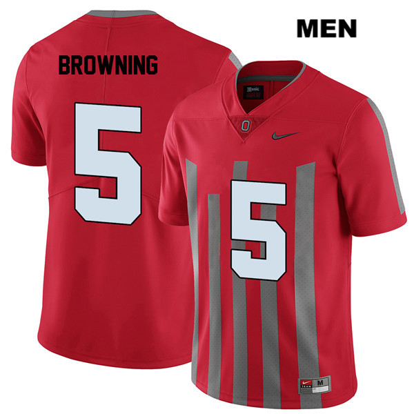 Baron Browning Mens Elite Nike Red Stitched Ohio State Buckeyes Authentic no. 5 College Football Jersey