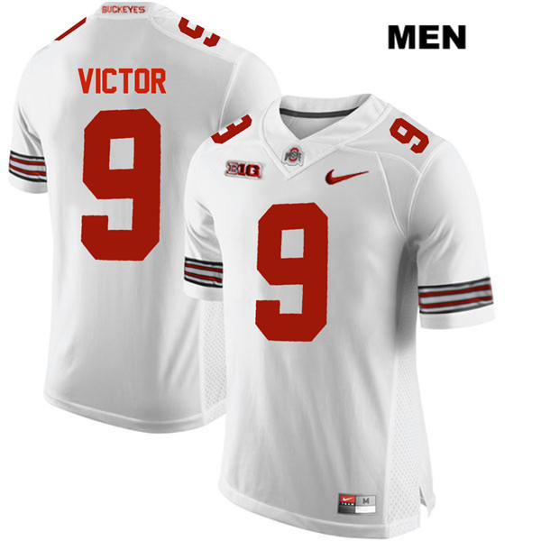 Binjimen Victor Nike Mens Stitched White Ohio State Buckeyes Authentic no. 9 College Football Jersey - Binjimen Victor Jersey