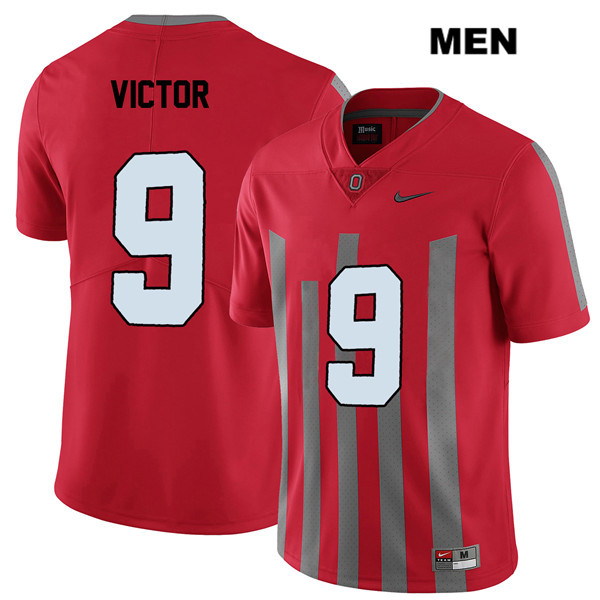 Binjimen Victor Mens Elite Red Stitched Nike Ohio State Buckeyes Authentic no. 9 College Football Jersey - Binjimen Victor Jersey