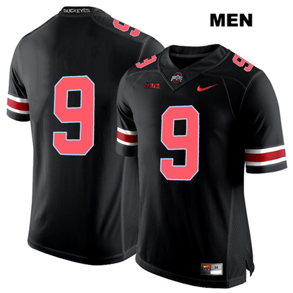 Binjimen Victor Mens Nike Black Ohio State Buckeyes Red Font Authentic Stitched no. 9 College Football Jersey - Without Name - Binjimen Victor Jersey