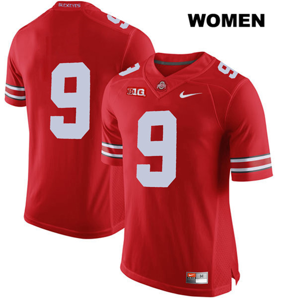 Binjimen Victor Womens Red Stitched Ohio State Buckeyes Nike Authentic no. 9 College Football Jersey - Without Name - Binjimen Victor Jersey