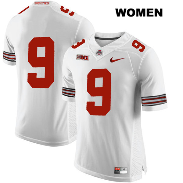 Binjimen Victor Womens Stitched White Ohio State Buckeyes Nike Authentic no. 9 College Football Jersey - Without Name - Binjimen Victor Jersey