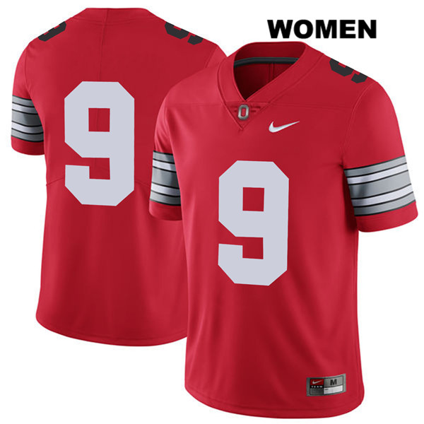 Binjimen Victor Stitched Womens 2018 Spring Game Red Ohio State Buckeyes Authentic Nike no. 9 College Football Jersey - Without Name - Binjimen Victor Jersey