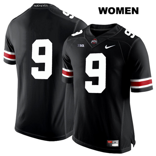 Binjimen Victor Nike Womens Black Ohio State Buckeyes Authentic White Font Stitched no. 9 College Football Jersey - Without Name - Binjimen Victor Jersey