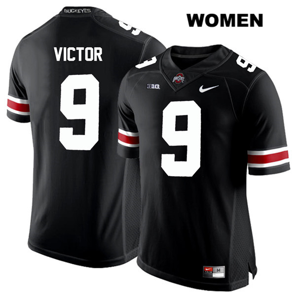 Binjimen Victor White Font Womens Black Stitched Ohio State Buckeyes Nike Authentic no. 9 College Football Jersey - Binjimen Victor Jersey