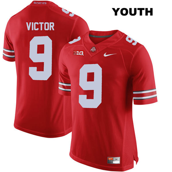 Binjimen Victor Youth Red Nike Ohio State Buckeyes Authentic Stitched no. 9 College Football Jersey - Binjimen Victor Jersey