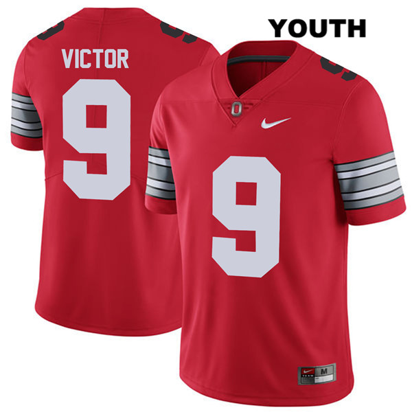 Binjimen Victor Nike Youth 2018 Spring Game Red Ohio State Buckeyes Authentic Stitched no. 9 College Football Jersey - Binjimen Victor Jersey