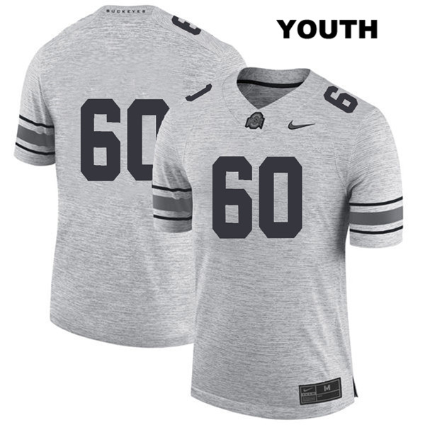 Blake Pfenning Youth Gray Stitched Ohio State Buckeyes Nike Authentic no. 60 College Football Jersey - Without Name - Blake Pfenning Jersey