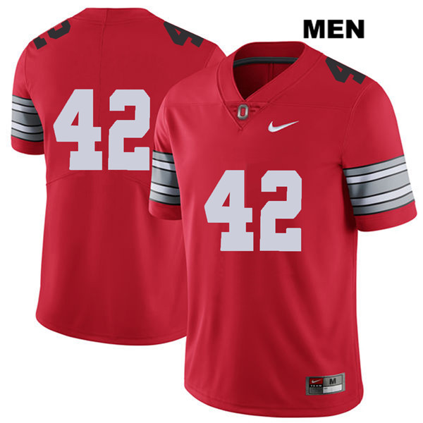 Bradley Robinson Mens Red 2018 Spring Game Ohio State Buckeyes Nike Authentic Stitched no. 42 College Football Jersey - Without Name - Bradley Robinson Jersey