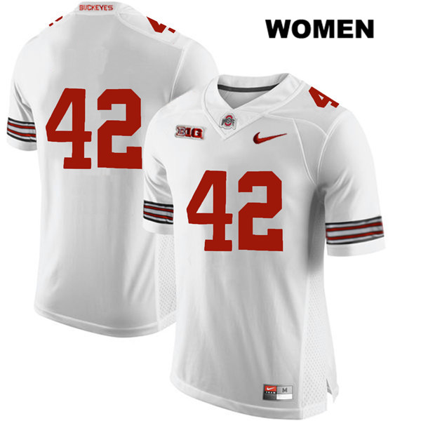 Bradley Robinson Womens White Stitched Ohio State Buckeyes Nike Authentic no. 42 College Football Jersey - Without Name - Bradley Robinson Jersey