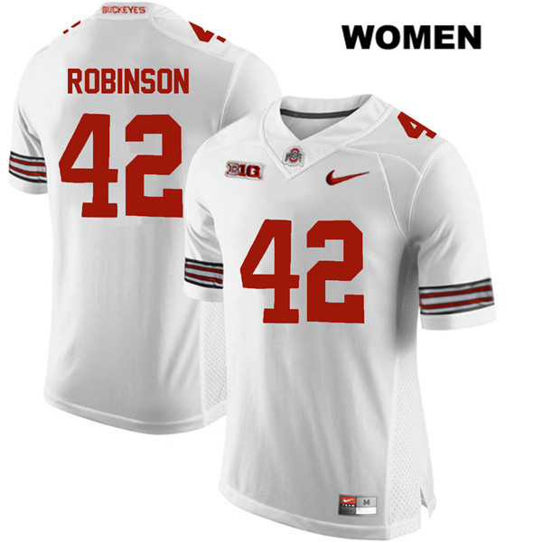 Bradley Robinson Womens Stitched White Nike Ohio State Buckeyes Authentic no. 42 College Football Jersey - Bradley Robinson Jersey