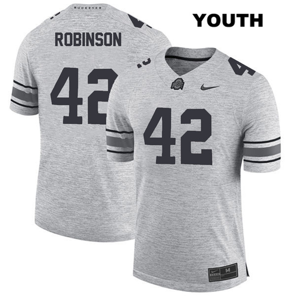 Bradley Robinson Nike Youth Stitched Gray Ohio State Buckeyes Authentic no. 42 College Football Jersey - Bradley Robinson Jersey