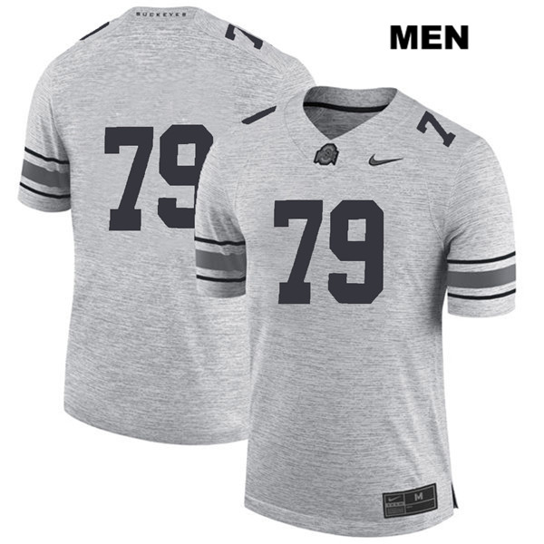 Brady Taylor Mens Gray Nike Ohio State Buckeyes Stitched Authentic no. 79 College Football Jersey - Without Name - Brady Taylor Jersey