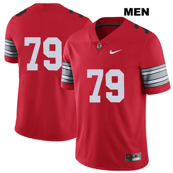 Brady Taylor Nike Mens Red 2018 Spring Game Ohio State Buckeyes Authentic Stitched no. 79 College Football Jersey - Without Name - Brady Taylor Jersey