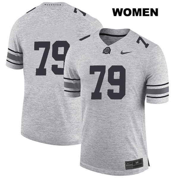 Brady Taylor Nike Womens Gray Stitched Ohio State Buckeyes Authentic no. 79 College Football Jersey - Without Name - Brady Taylor Jersey
