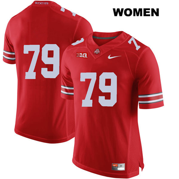 Brady Taylor Womens Red Nike Ohio State Buckeyes Stitched Authentic no. 79 College Football Jersey - Without Name - Brady Taylor Jersey