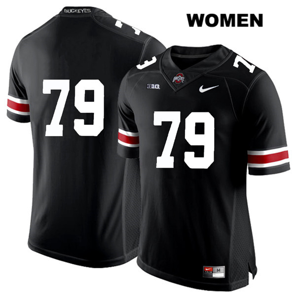 Brady Taylor Womens Stitched Black Ohio State Buckeyes Nike White Font Authentic no. 79 College Football Jersey - Without Name - Brady Taylor Black Jersey