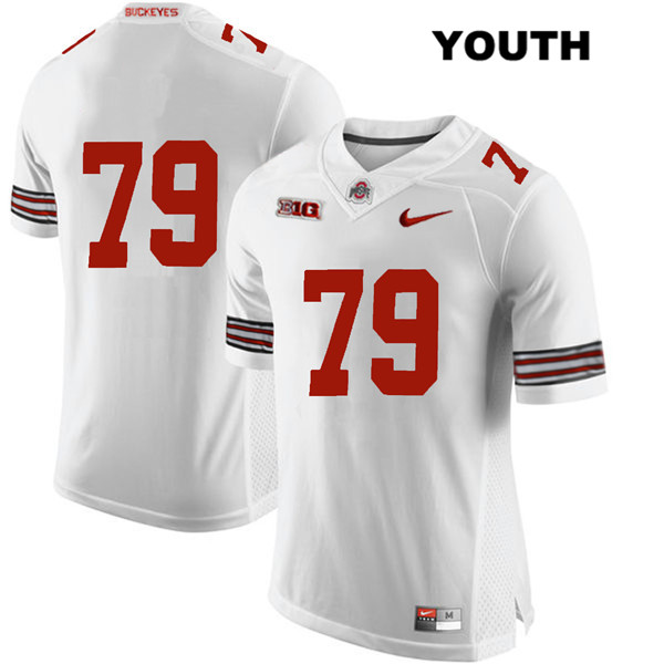 Brady Taylor Stitched Youth Nike White Ohio State Buckeyes Authentic no. 79 College Football Jersey - Without Name - Brady Taylor Jersey
