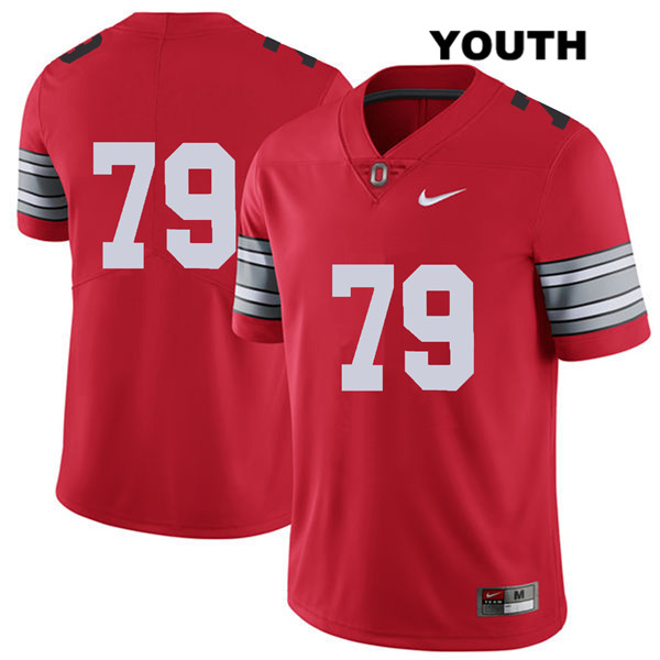 Brady Taylor 2018 Spring Game Youth Nike Red Stitched Ohio State Buckeyes Authentic no. 79 College Football Jersey - Without Name - Brady Taylor Jersey