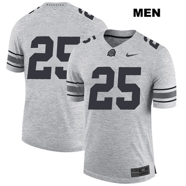 Brendon White Stitched Mens Gray Nike Ohio State Buckeyes Authentic no. 25 College Football Jersey - Without Name - Brendon White Jersey