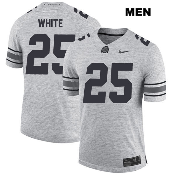 Brendon White Stitched Mens Gray Nike Ohio State Buckeyes Authentic no. 25 College Football Jersey - Brendon White Jersey