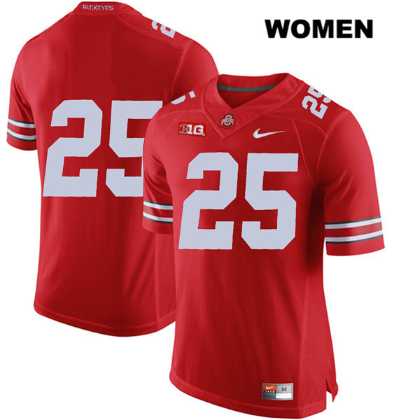 Brendon White Stitched Womens Red Ohio State Buckeyes Authentic Nike no. 25 College Football Jersey - Without Name - Brendon White Jersey