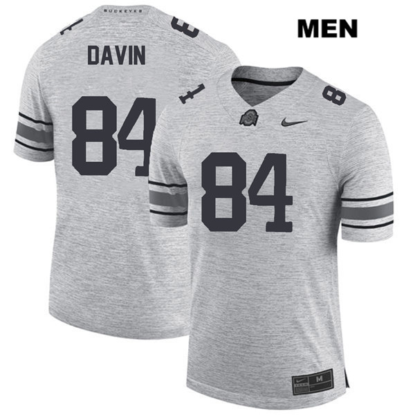 Brock Davin Stitched Mens Nike Gray Ohio State Buckeyes Authentic no. 84 College Football Jersey - Brock Davin Jersey