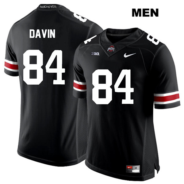 Brock Davin Mens Black Nike Ohio State Buckeyes White Font Authentic Stitched no. 84 College Football Jersey - Brock Davin Jersey