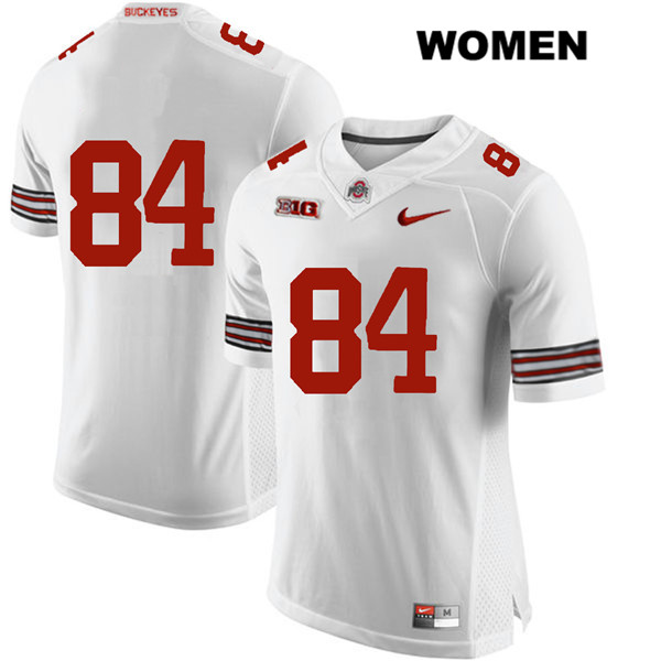 Brock Davin Stitched Nike Womens White Ohio State Buckeyes Authentic no. 84 College Football Jersey - Without Name - Brock Davin Jersey