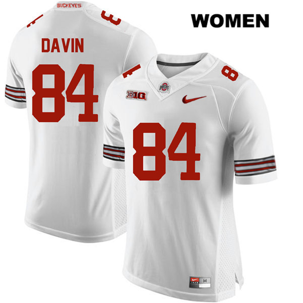 Brock Davin Womens White Stitched Ohio State Buckeyes Authentic Nike no. 84 College Football Jersey - Brock Davin Jersey