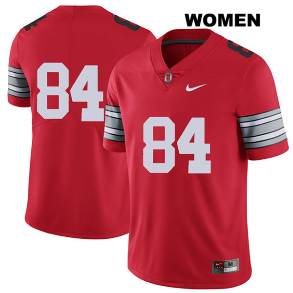 2018 Spring Game Brock Davin Womens Red Nike Ohio State Buckeyes Authentic Stitched no. 84 College Football Jersey - Without Name - Ohio State Buckeyes Jersey