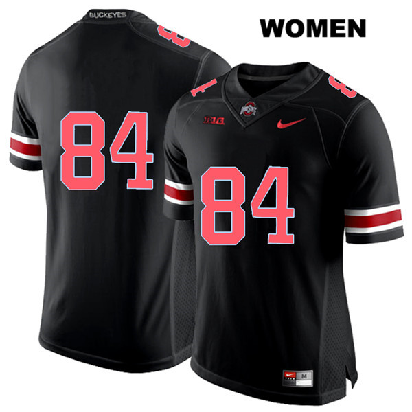 Brock Davin Womens Stitched Black Ohio State Buckeyes Nike Authentic Red Font no. 84 College Football Jersey - Without Name - Brock Davin Jersey
