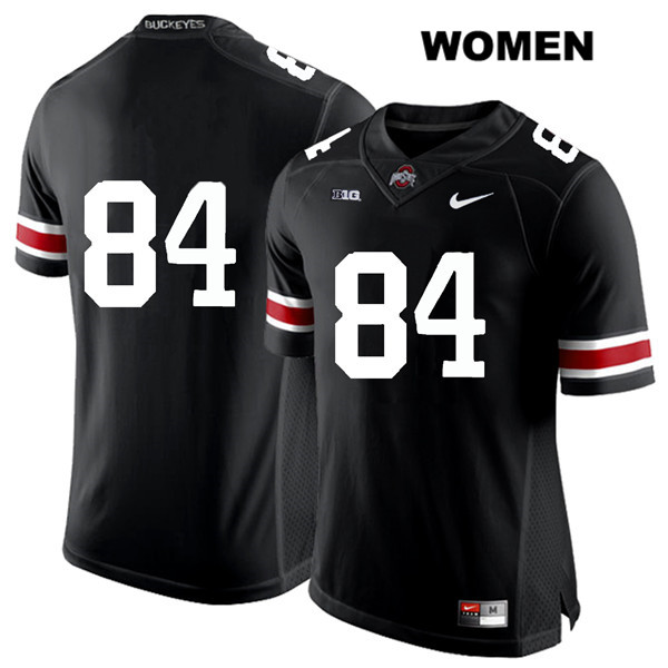 Brock Davin Womens White Font Black Nike Ohio State Buckeyes Stitched Authentic no. 84 College Football Jersey - Without Name - Brock Davin Jersey