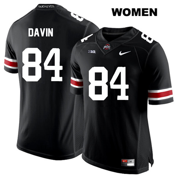 Brock Davin White Font Womens Nike Black Ohio State Buckeyes Stitched Authentic no. 84 College Football Jersey - Brock Davin Jersey