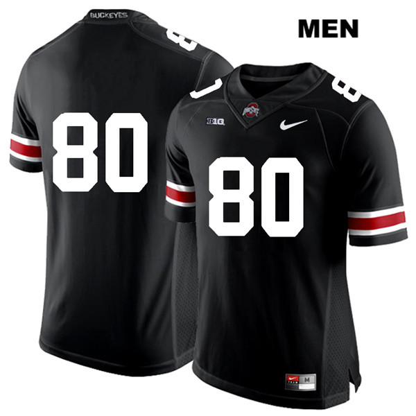 C.J. Saunders Mens Nike Black Ohio State Buckeyes Stitched Authentic White Font no. 80 College Football Jersey - Without Name - C.J. Saunders Jersey