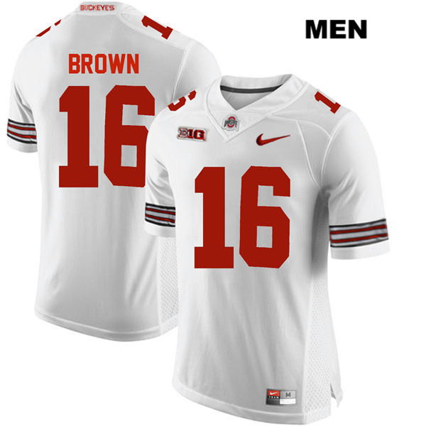Cameron Brown Nike Mens White Ohio State Buckeyes Stitched Authentic no. 16 College Football Jersey - Cameron Brown Jersey