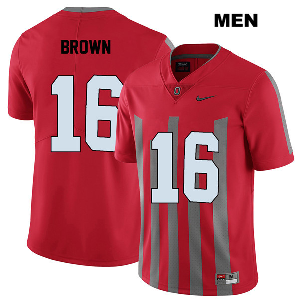 Cameron Brown Mens Stitched Red Ohio State Buckeyes Nike Authentic Elite no. 16 College Football Jersey - Cameron Brown Jersey