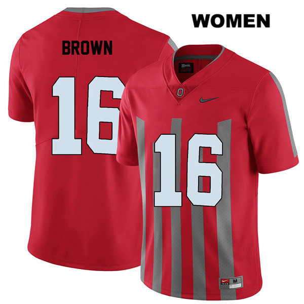 Cameron Brown Womens Stitched Nike Red Ohio State Buckeyes Authentic Elite no. 16 College Football Jersey - Cameron Brown Jersey