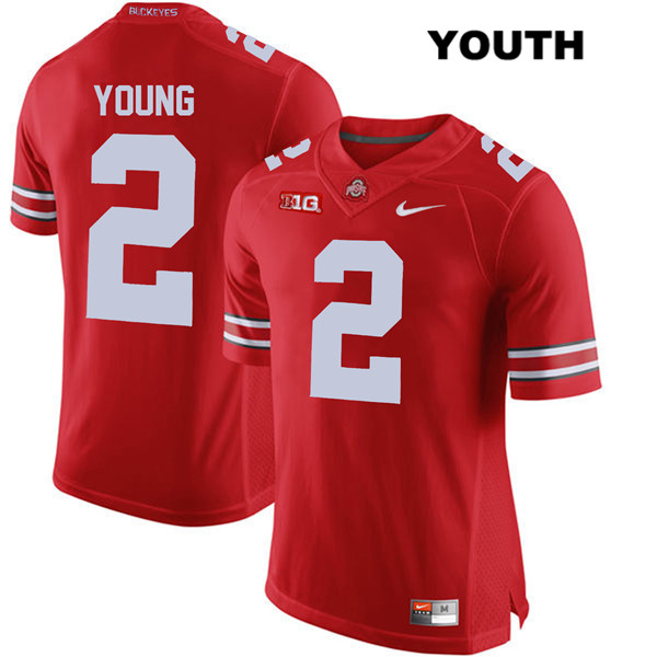 Chase Young Youth Red Stitched Ohio State Buckeyes Nike Authentic No 2 College Football Jersey Osu Football Store